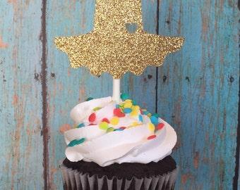 Ballerina Cupcake Toppers, Tutu Cupcake Toppers, Ballerina Birthday Cupcakes, Gold Tutus, Tutu Cupcakes, Ballerina Party