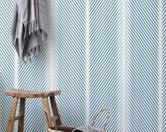 Minimalistic Geometric Pattern Wallpaper / Simple Removable Wallpaper / Geometric Wall Mural / Geometric Wallpaper - CM031