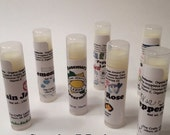 Lip Balm Sampler Pack - 7 Flavors of Lippity Love - Handcrafted with Organic Ingredients by The Crafty Lemon!!