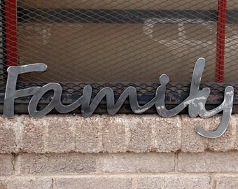 Family metal sign for home decor / wall signs / gifts / metal signs // metal wall art // metal decor // custom metal sign // wall art