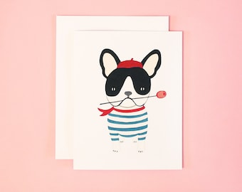 French Bulldog Valentine's Day Card | French Bulldog Greeting Card