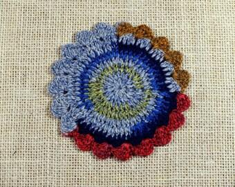 Preppy Crochet Coasters - set of 5
