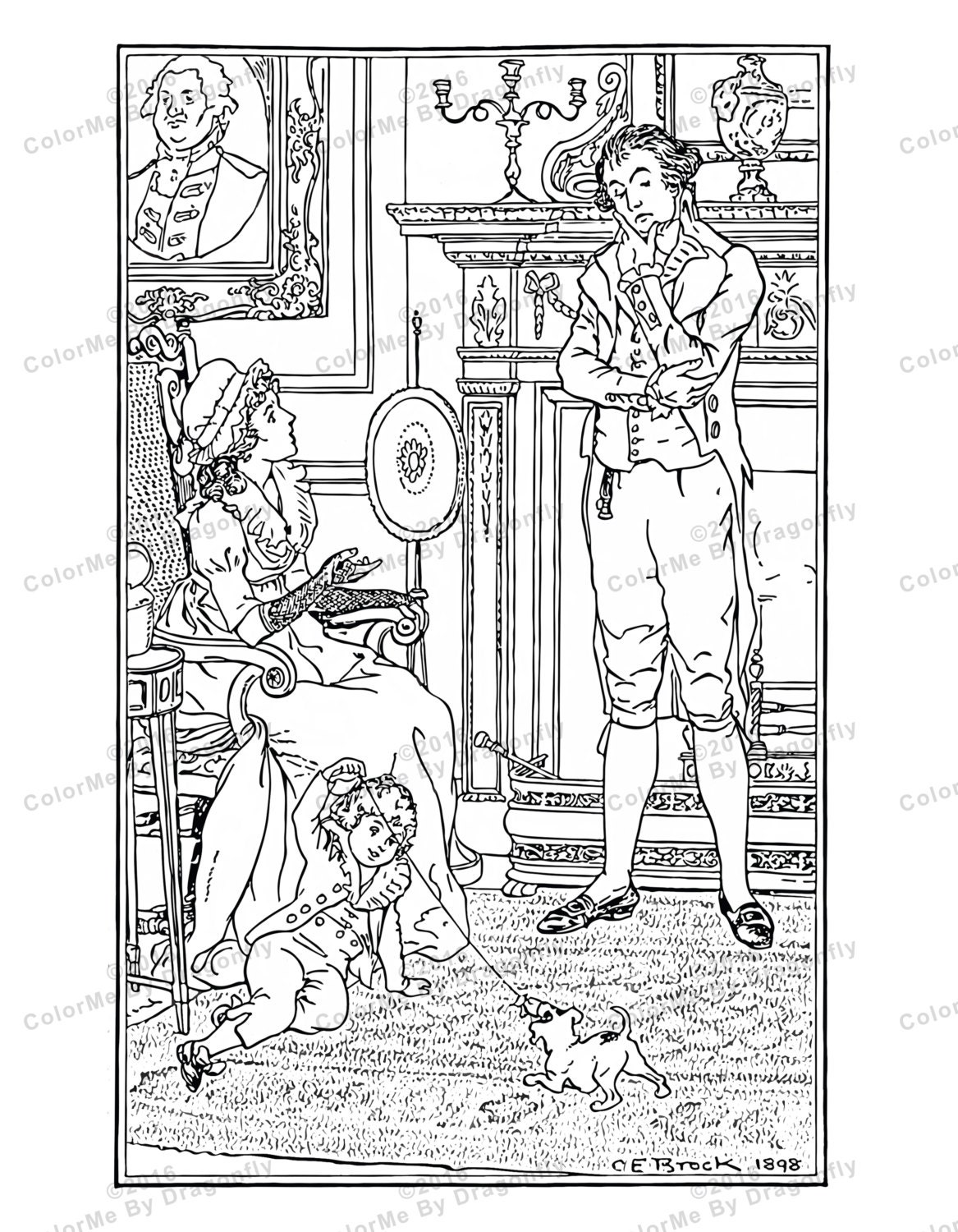 Family Life in 1800 39 s Family Coloring