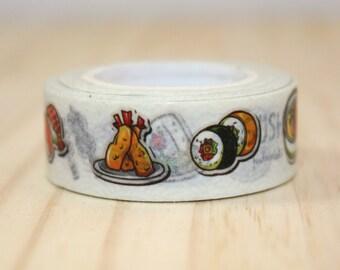Masking tape sushi, Washi tape, adhesive tape, decorative tape, scrapbooking