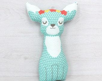 FREE SHIPPING Baby deer Pillow, Stuffed deer, Pillow, Nursery Decor, Soft Toy, Plush Toy, Kids Room Decor, deer Cushion, Decorative Pillow