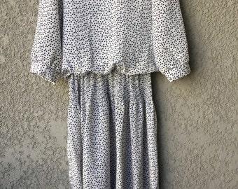 White blouse top dress