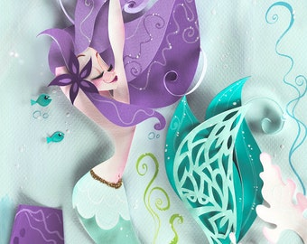 Mint & Lavender Print
