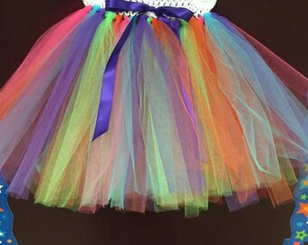 Rainbow tutu skirt. Girls party outfit,babies,toddlers sizes newborn to 5t