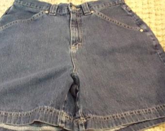 Women's Vintage Lee Rider s Classic Fit Denim Shorts, Size 10M