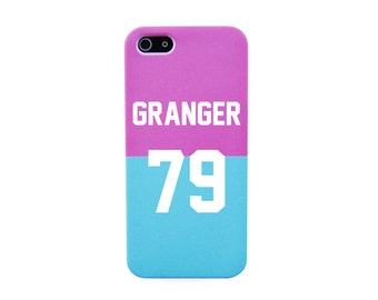 Granger 79 on Pink and Blue iPhone SE Phone case Harry potter iPhone 6 case Hermione Granger iPhone 5S case Harry Potter Phone case