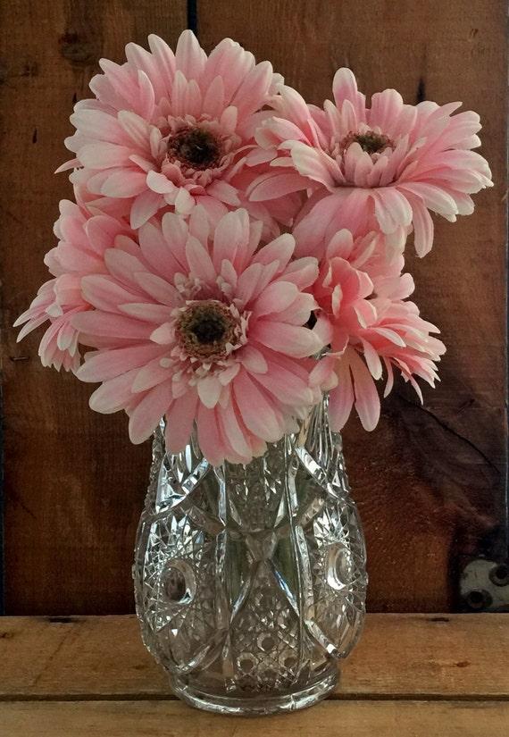 Imperial glass flower vase centerpiece vintage