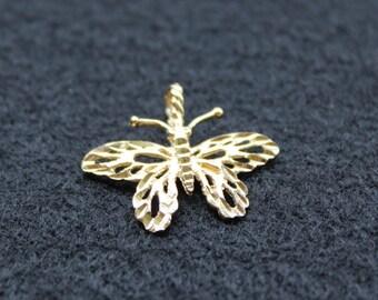 10k gold butterfly pendant