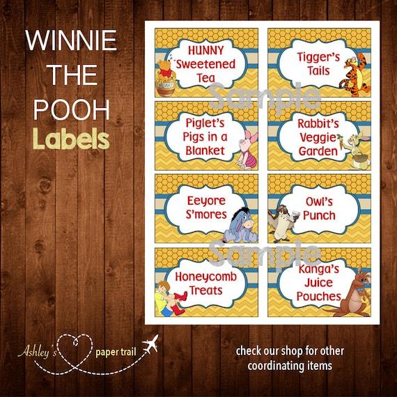 WINNIE THE POOH Labels Digital File By AshleysPaperTrail