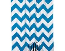 Monogrammed Chevron or Polka Dot Beach Towel -- Custom Beach Towels
