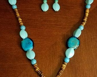 Turquoise Mosaic necklace