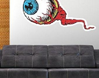 Eyeball Creepy Weird Pop Art Wall Decal