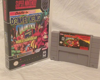 Donkey Kong Country Competition Reproduction Cartridge Super Nintendo SNES Game. Works on Retron 5!