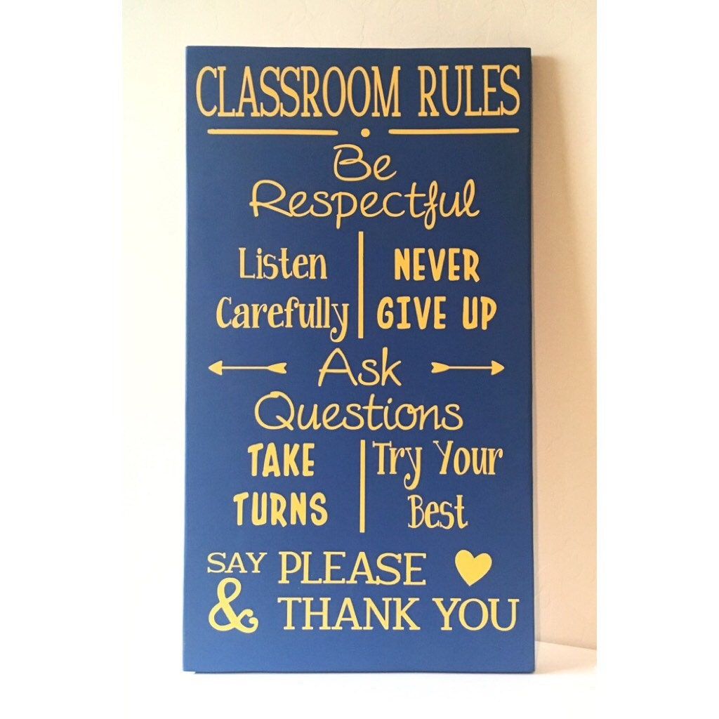 Classroom Rules Decor ~ Diy kit classroom rules wooden sign supplies craft
