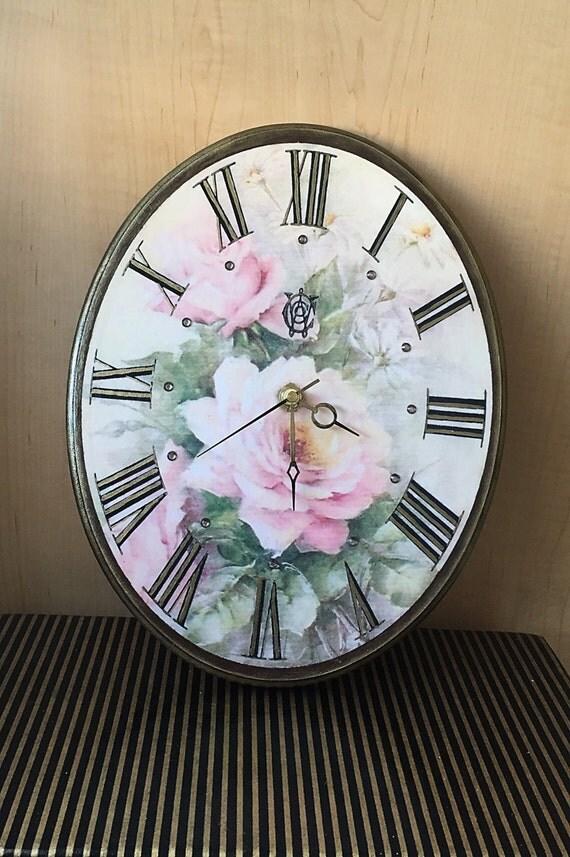 grande horloge murale bois style vintage wall clock pays. Black Bedroom Furniture Sets. Home Design Ideas