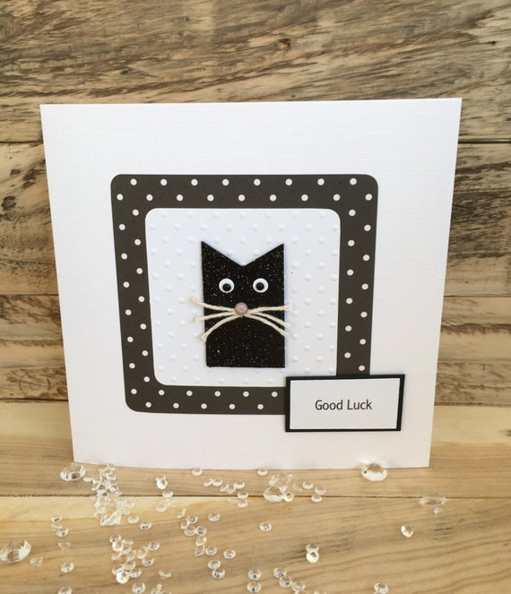 Handmade Good Luck Card Good Luck Lucky By Butterflyboxcards
