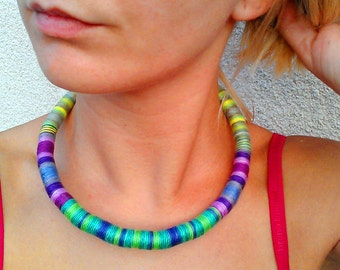 Spring Choker Rope Necklace Hand Wrap Necklace Choker necklace Boho Choker African Necklace African Jewelry For Her Festival Fashion