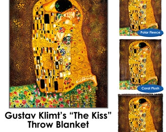 The Kiss Gustav Klimt Throw Blanket - Standard Multi-color
