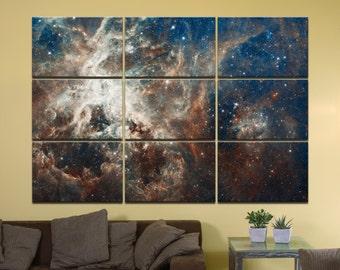 "30 Doradus Nebula - 72"" x 48"", GIANT 9-Piece Canvas Wall Mural"