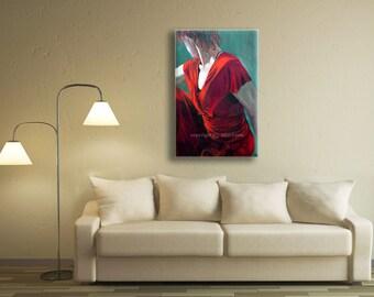 Canvas Art, Decorative Art, Wall Art Canvas Print, Figure Art, Red Wall Art, Red Wall Decor Sensual Art, Decorative Wall Art, Figurative Art