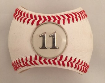 Personalized Number or Initial Baseball Bracelet