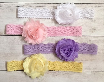 Baby Headband Set, Lace Newborn Headband, Lace Headbands for Baby Girls, Baby Girl Headband, Infant Headbands, Girl Headbands, Baby Girl