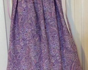 Purple Paisley Pillowcase Dress Size 3T