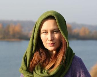 Infinity scarf from luxurious yarns - alpaca and silk