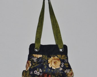 Victorian Blue Flowered Purse