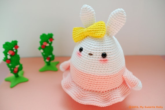 Amigurumi Bunny In Dress : Egg Bunny series Pink Dress amigurumi crochet by ...