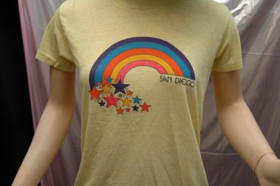 broken in 70s san diego california worn vintage neon rainbow