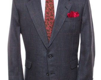 Size ~45R - H. Freeman & Son, Philadelphia, vintage wool houndstooth check sport coat