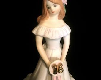 Sweet Sixteen Porcelain Figurine     VG2122