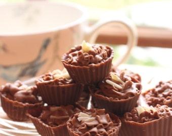 Handmade Cherry Pie Belgian Chocolate Truffles - Box of Chocolates gift set. Milk chocolate truffles with a gorgeous cherry flavour ganache!