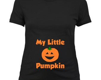 Halloween Pregnancy Announcement T Shirt Pumpkin Shirt Maternity Costume Pregnant Clothes Expecting Mother To Be Gift Ladies Tee - SA681