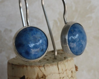 Lapis Earrings, Sterling Silver Lapis Earrings, Gemstone Earrings, lapis Jewelry, Lapis Lazuli Earrings, Blue Earrings, Everyday Earrings
