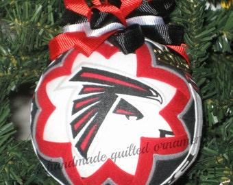 ATLANTA FALCONS Ornament Made From Falcons Fabric, Atlanta Falcons, Falcons Ornaments, Atlanta Falcons Ornaments, Quilted Ornaments