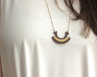 Boho necklace, Geometric boho jewelry, Tribal Necklace, Tribal Jewelry, Long Necklace, Colorful Necklace, Gold Plated, gold Plated