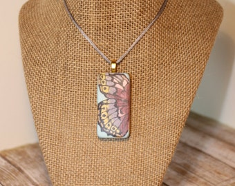 Butterfly Wing Altered Domino Pendant