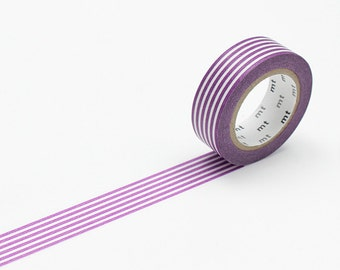 mt washi tape, border fig | washi tape purple stripe