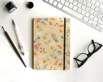 Notebook YELLOW, handmade illustrated. Limited Edition.