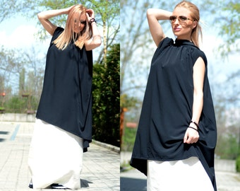 Womens Tunic, Black Tunic, Tunic Dress, Plus Size Tunic, Loose Tunic, Long Tunic, Sleeveless Tunic, Summer Tunic Dress, Boho Tunic Dress
