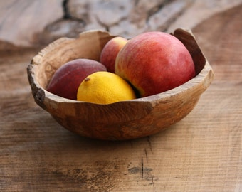 Wood Fruit Bowl // Salad Bowl // Housewarming Gift // Serving Dish
