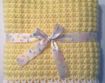 Super Soft Crochet Baby Blanket, 28x28
