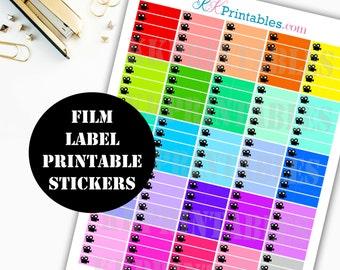 Youtube Film Printable Planner Stickers // Erin Condren Life Planner / Kikki / Plum Paper Planner / Midori Insert / Planner Insert 00141