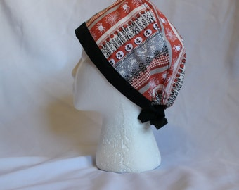 Skulls and Spiders Halloween  Surgical Scrub Cap Chemo Dental Hat